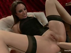 Horny Amber Rayne has her ass fist fucked hard