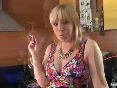 Smoking amateur looking naughty