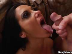 Sizzling Ava Addams is showered in tasty nob juice