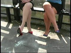 Enjoy lesbians in sexy stilettos walking in your fetish