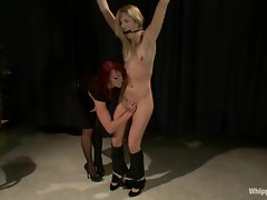 Sizzling Chastity Lynne gets tied up by Nikki Hunter