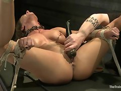 Awesome Aiden Starr toy fucks Ariel Carmine's snatch