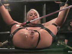 Naughty Lorelei Lee gets tied up & her pussy tormented