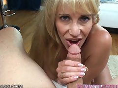 Olivia Parrish gives a sloppy blowjob