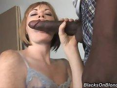 Naughty Allison Wyte slurps on this tasty manaconda