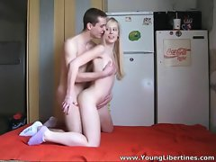 Horny teen couples shagging