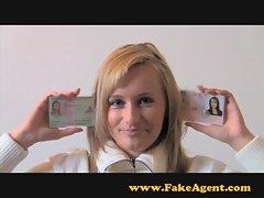FakeAgent Anal Creampie! horny hot blonde