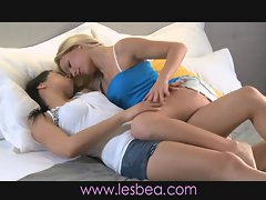 Lesbea Teen lesbians orgasm after much foreplay