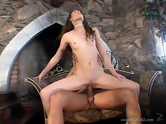 Tart Jassie Jame bounces her wet slot on a hard dick