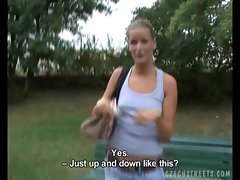 CZECH STREETS - BEAUTIFUL  AMATEUR IN PARK