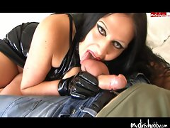 Gothic Girl just loves sucking cock and balls
