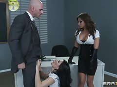 Horny Rebecca Linares & Madison Ivy share this prick