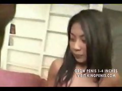 Seductive Filipina Fucking a Black and White Guy