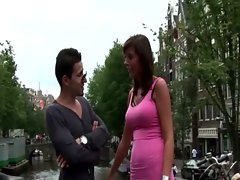 Busty dutch slut takes cock