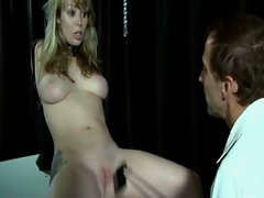 Tortured babe being cunt nailed