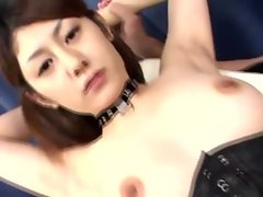 Submissive jap bitch fondled by her masters