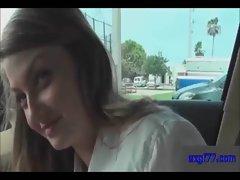 Schoolgirl fucked in car