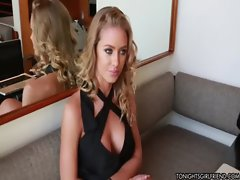 Hot Blonde Nicole Aniston dresses up as school girl to get pussy pounded