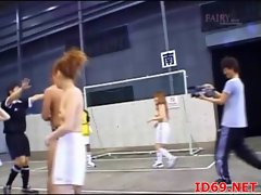Japanese AV Model naked in public