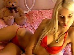 blonde pussy web cam strip SexAtCams.com
