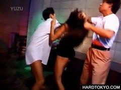 Japanese bitch fucks in groupsex