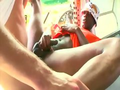 Ebony ex con gets ass fucked by white