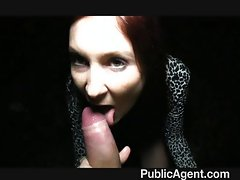 Lost brunette finds her way on my cock