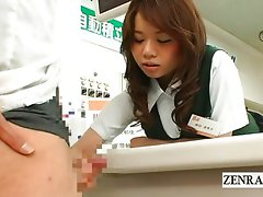 Bizarre Japan post office public handjob