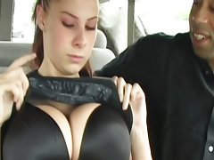 Big breast babe in interracial 3some