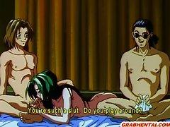 Hentai girl hard threesome fucked