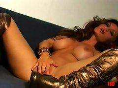 Crissy Moran plays with her pussy for you
