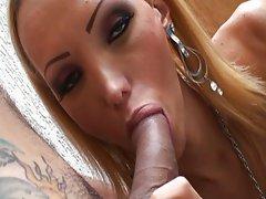 Blond shemale got big tits