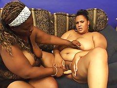 Fat ebonys pushing asses together