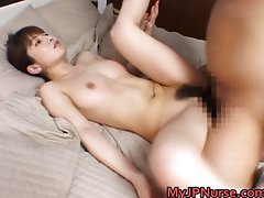 Ann Nanba Asian nurse shows off her cute