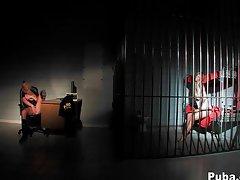Hot big tits behind bars