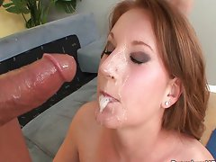 Farrah Fae face full of schlong juice