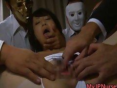 Asian nurse has hardcore sex
