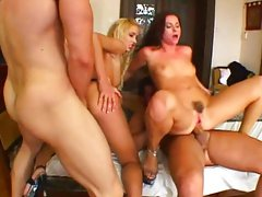 Jessica and Julia Silver in hot group sex