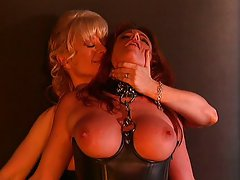 Mature Nina Hartley bondage fuck is hot