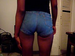 slim ebony in booty jeans shorts