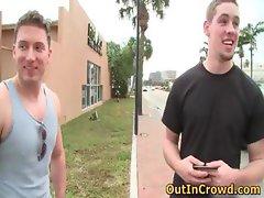 Hot hetero men get outed in public part5