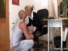 She rides his cock real hard at her birthday