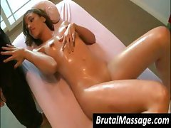Wronged slut with an uncontrolled labia loves it when her masseur gets kinky