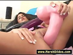 today a pink and a black dildo to fuck with