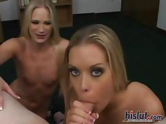 Macy and Mandy swapped cum