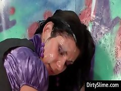 Immoral coquettes with great peggy's parlors get sprayed with spunk
