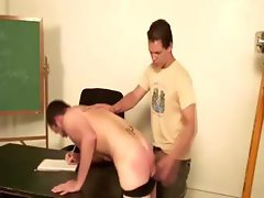 Useless young gay gets dominated