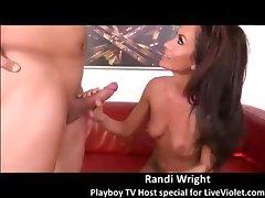 Playboy TV pornstar Randi Wright gets facial show