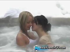 Two beautiful french teen gfs outdoor part2