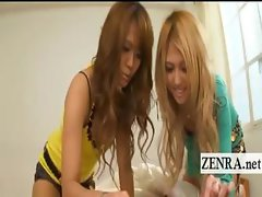 Short shorts Japan gyaru give POV handjob and blowjob